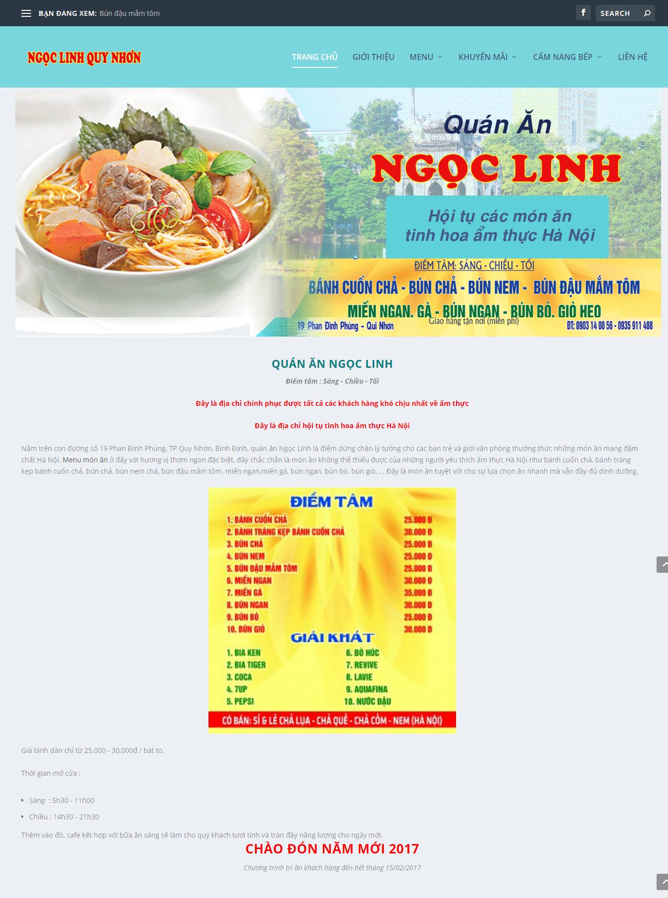 Quán ăn ngon Bình Định 1